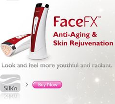 Silk'n FaceFX is a hand held light emitting diode (LED) anti-aging device. Using a unique blend of deep dermal heating, light energy and massage, the FaceFX can result in improved skin texture and tone while reducing fine lines, wrinkles and pore size. www.tryfacefx.com