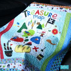 Treasure Map by Lesley Grainger for Riley Blake Designs...oh, I have lots of little grandsons who would love this one!