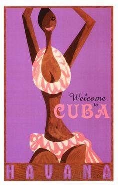 Havana- Welcome To Cuba マスタープリント