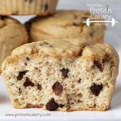 Almond-Chocolate Chip Protein Muffins