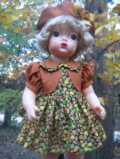 "Fall/Autumn Leaves OUTFIT for your vintage 16"" Terri Lee doll"