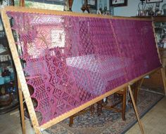 vintage curtain stretcher  for lace curtains