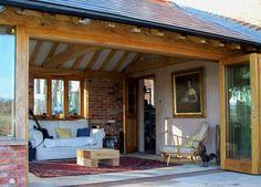 Oak Bifold Doors on Extension
