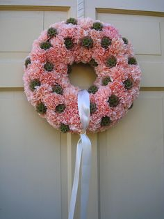 Flower and sweet gum ball wreath :)