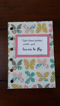 ESTY DASBOARDS FOR planners feel like I hit gold.....Filofax pocket size dashboard/divider with  butterflies and inspirational quote