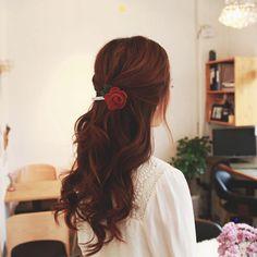 hair color idea // reddish brown (dark)