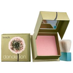 What it is: A pale-pink, pressed highlighting powder that transforms your complexion from dull to radiant. What it does: Fake awake in just one stroke with Dandelion—Benefit's long-lasting, pressed highlighting powder in ballerina-pink. Its s