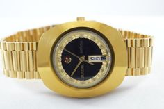 100% GENUINE RARE AUTOMATIC VINTAGE RADO DIASTAR D&D MEN'S SWISS WRIST WATCH #Rado #LuxuryDressStyles #rado #auction #diastar #gold #black #watch #ebay