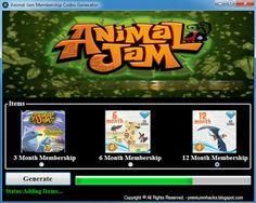 Animal Jam Membership Codes Generator