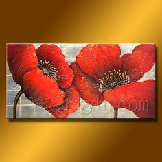 Oil Painting Flowers, Abstract Flowers, Oil Painting Abstract, Texture Painting, Diy Painting, Watercolor Paintings, Art Deco Paintings, Red Flowers, Flower Art