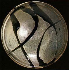 Large bowl. Showa period, 1962. Created by Hamada Shoji