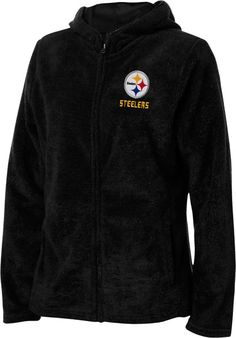 Pittsburgh Steelers Black Women s Breakout Play IV Full-Zip Plush Hooded  Fleece  f18d0a0e4