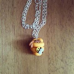 Beehive necklace polymer clay by FlowerChildCharms on Etsy  Holidays are here get ur orders in RT PLZ