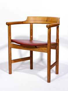 Hans Wegner; Oak and Walnut Armchair, 1950s.