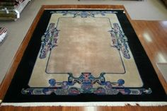 Art-Deco Nichols Chinese rug from the 1920s