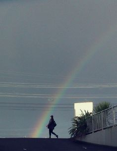I'm grateful for moments of colour that brighten up my day...like people walking into rainbows      Eileen 27 June, 2012 from NZ