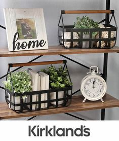 kitchen decor decor coffee table stores sell farmhouse decor decor vancouver decor living room decor paint colors decor with color for farmhouse decor Farmhouse Baskets, Farmhouse Decor, Modern Farmhouse, Target Farmhouse, Farmhouse Style, Small End Tables, Tabletop Clocks, Wall Decor, Room Decor