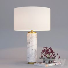 Pillar Table Lamp - Marble
