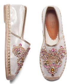 Look at this #zulilyfind! Silver Embroidered Slip-On Sneaker #zulilyfindsღღ✿⊱╮@TonjaAmenra