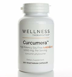 Curcumera- Soy Free Meriva - 1000mg per serving - 120 Vegetarian Caps >>> Visit the image link for more details.