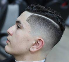 ap_cutz_and curls cut short and slicked high fade hard part haircut
