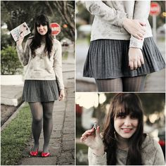 Renner Sweatshirt, C Skirt, Renner Flats, Trifil Tights (Pied De Poule)