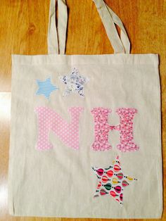 Personalised appliqué tote bag for me!