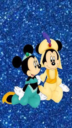 Minnie Mouse & Mickey Mouse As Jasmine & Aladdin