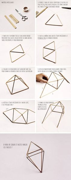 with these step-by-step instructions, it will be easier to make this... whatever-you-call-it, cool decoration
