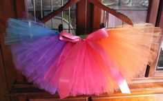 Rainbow tutu for Lucy's first birthday