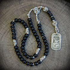 z- Custom St. Michael Rosary for John C.