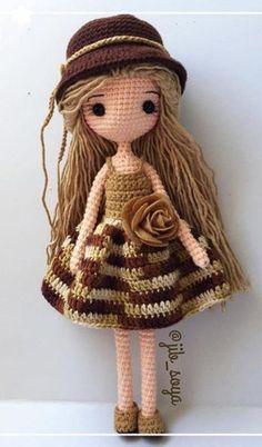 my crochet doll pdf Kawaii Crochet, Crochet Disney, Crochet Doll Tutorial, Crochet Doll Pattern, Crochet Amigurumi Free Patterns, Crochet Toys, Free Crochet, Hello Kitty Crochet, Crochet Dollies