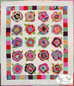 Free French Rose Quilt Pattern videos on PopScreen Rag Quilt, Scrappy Quilts, Nancy Zieman, Flower Quilts, Country Quilts, Textiles, Small Quilts, Colorful Quilts, Quilt Kits