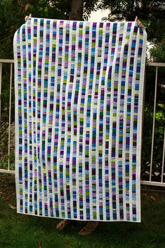 Beautiful Beach Glass Quilt from Quilts Made Modern..dont like the purple...never seen purple beach class. Just brown, blue & green to look real.