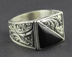 925 sterling silver men's ring handmade works of by SILVERforMEN