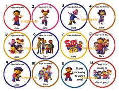 Sid the science kid Edible cookie cupcake tops by IcingSheets, $6.45