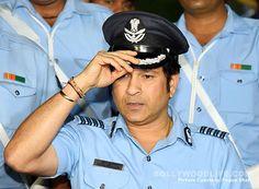 Sachin Tendulkar looks striking in the Indian Air Force uniform during the special screening of Sachin: A Billion Dreams – view… #FansnStars