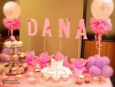 Great party idea to use Dowels for the letters on the dessert buffett! Rocks daily: Princess Theme 7th Birthday