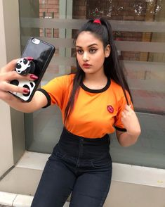 Image may contain: 1 person, standing and phone Cute Girl Photo, Cool Girl, Sweet Girls, Cute Girls, Indian Beauty, Bollywood Actress, Girl Photos, Celebs, Actresses