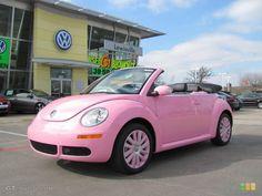 Custom Pink Volkswagen New Beetle