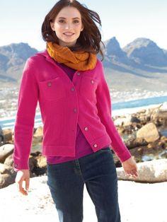 100% Cashmere Shirt Collar Pockets Jacket-Cashmere 1873.COM