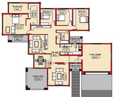 My House Plan South Africa House Layout Plans, My House Plans, House Layouts, Home Design Plans, Plan Design, House Plans South Africa, Affordable House Plans, 4 Bedroom House Plans, Small House Design