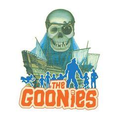 Camiseta Los Goonies. Personajes, silueta Camiseta con la silueta de los protagonistas de la película de culto Los Goonies.