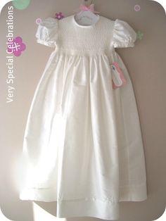 """Christening Gown """"Athena"""" White"""
