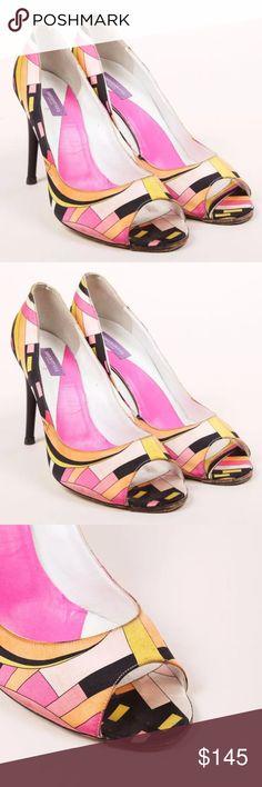 Emilio pucci peeptoe sandals..moderately used. Emilio pucci peeptoe sandals..moderately used. Size 40 Shoes Heels