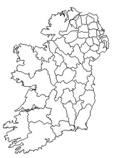 Blank County Map Ireland Google Search Gaeilge