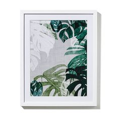Tribal Gathering Print Monstera Grey 40x50cm