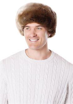 83de92675a574 Men s Timber Wolf Faux Fur Russian-Style Hat