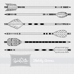 Arrows Digital Stamp Set. $5.50, via Etsy.