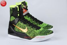 low priced 8068a dff6f Nike Kobe IX 9 Elite 630847-077 Green Sneakers CIT412